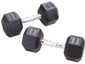 York Fitness Rubber Hex 10kg Dumbbell Pair