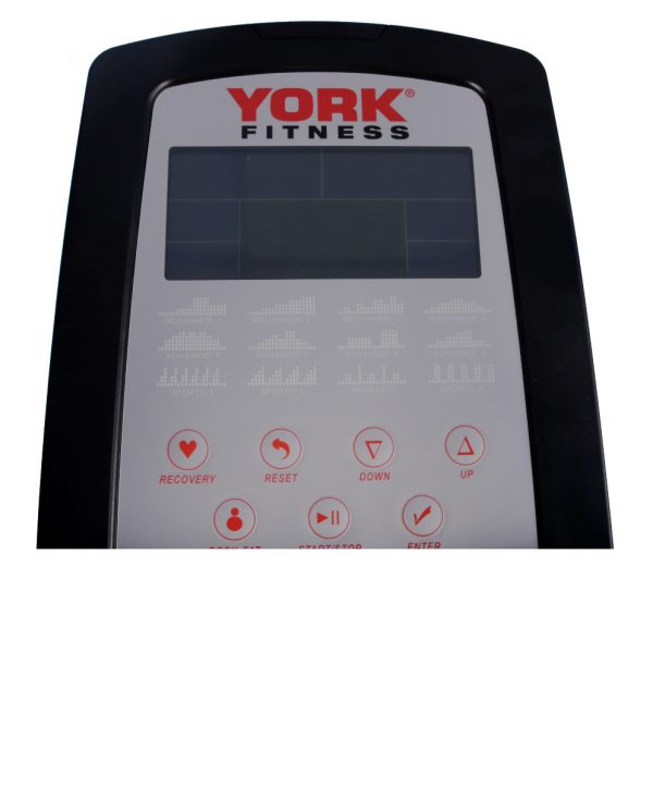 York Fitness LC-TX Light Commercial Cross Trainer computer console.jpg