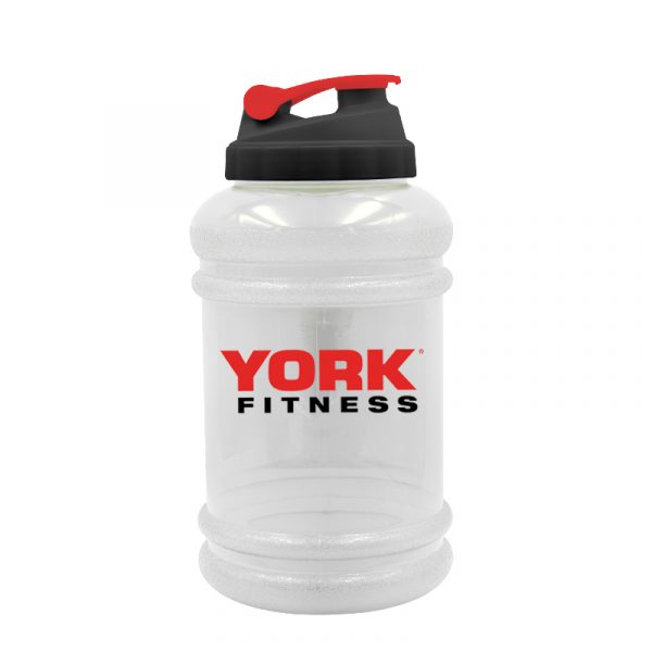 York Fitness Hyperthirst 2.2L Water Bottle clear