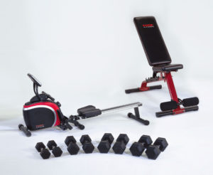 York Fitness Warrior Pack with rower
