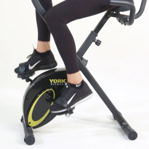York Fitness Compact X Exercise Bike model riding