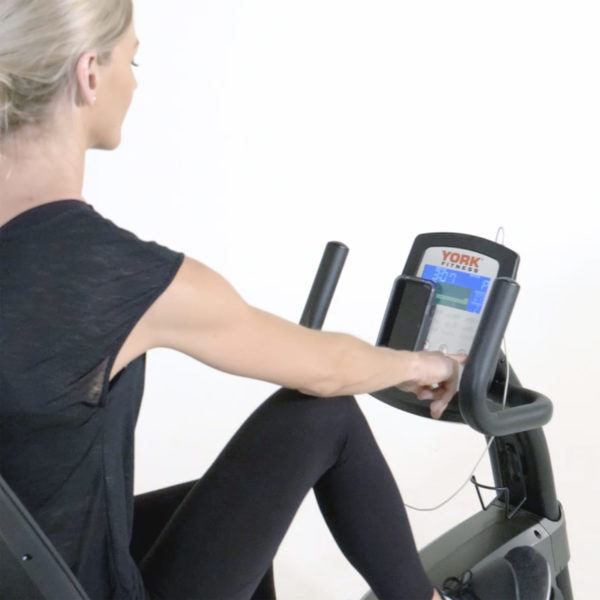 York Fitness LC-RB Recumbent Bike LCD screen