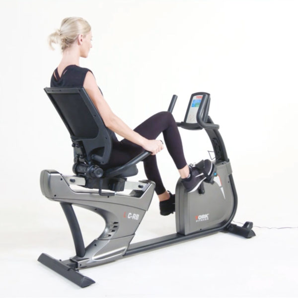 York Fitness LC-RB Recumbent Bike model riding