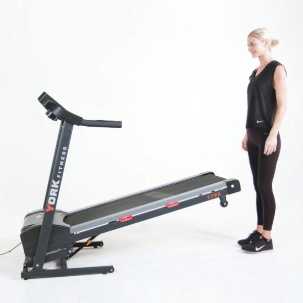 York Fitness T700 Treadmill folding