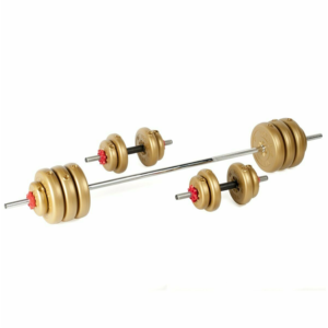 York Fitness 50KG Vinyl Dumbell and Barbell Set