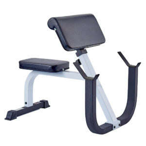 York Fitness FTS Seated Preacher Curl Bench